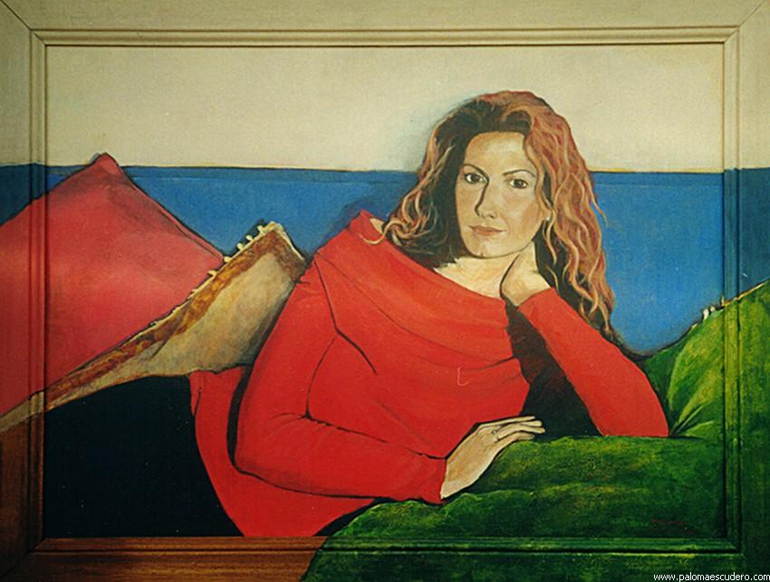Adriana. 2000 Acrílico sobre lienzo, 90 x 70 cm. Paloma Escudero