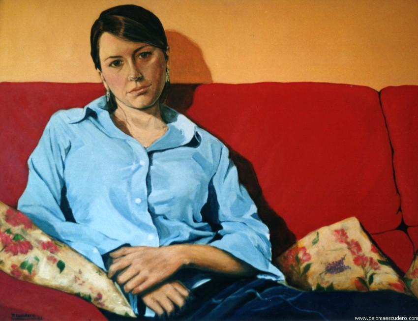 Malú. 2002 Acrílico sobre lienzo, 70 x 95 cm. Paloma Escudero